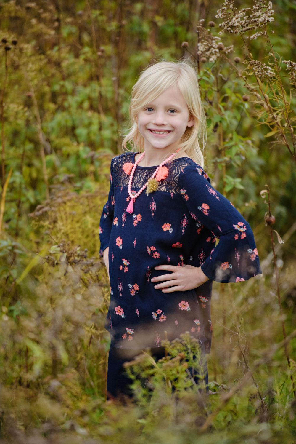 Young girl portrait in Fall in Akron Ohio