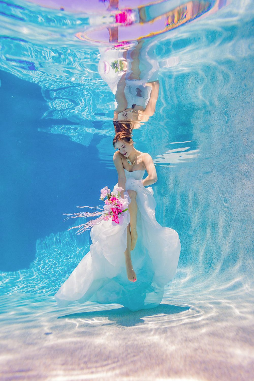 underwater wedding dress photos scottsdale arizona