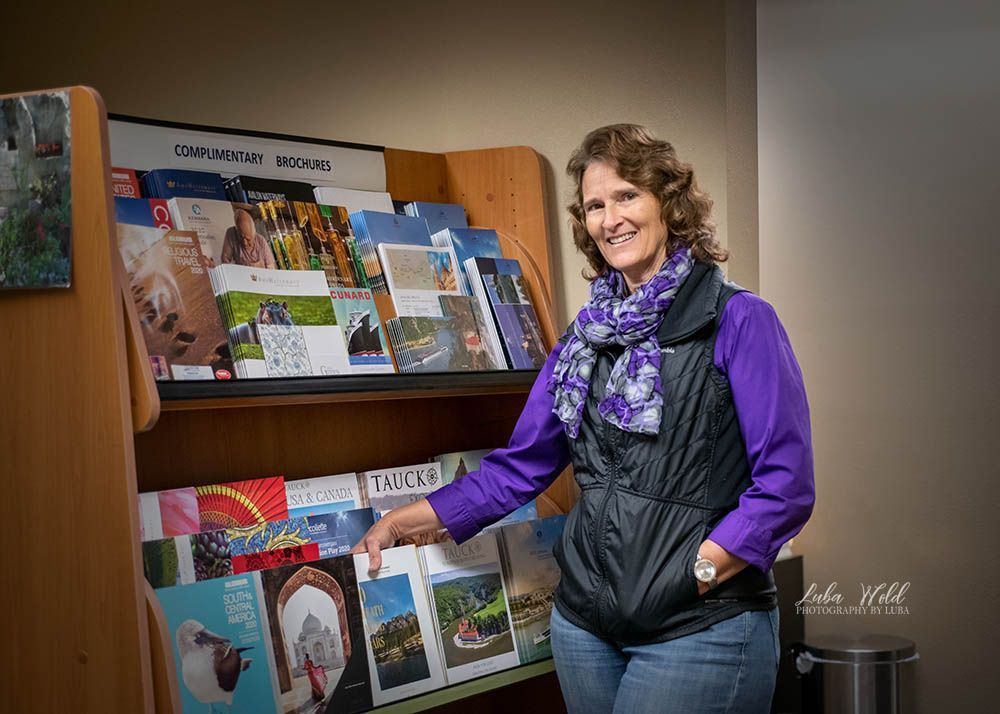 save local businesses project integrity travel agent in her Post Falls office photographer luba wold