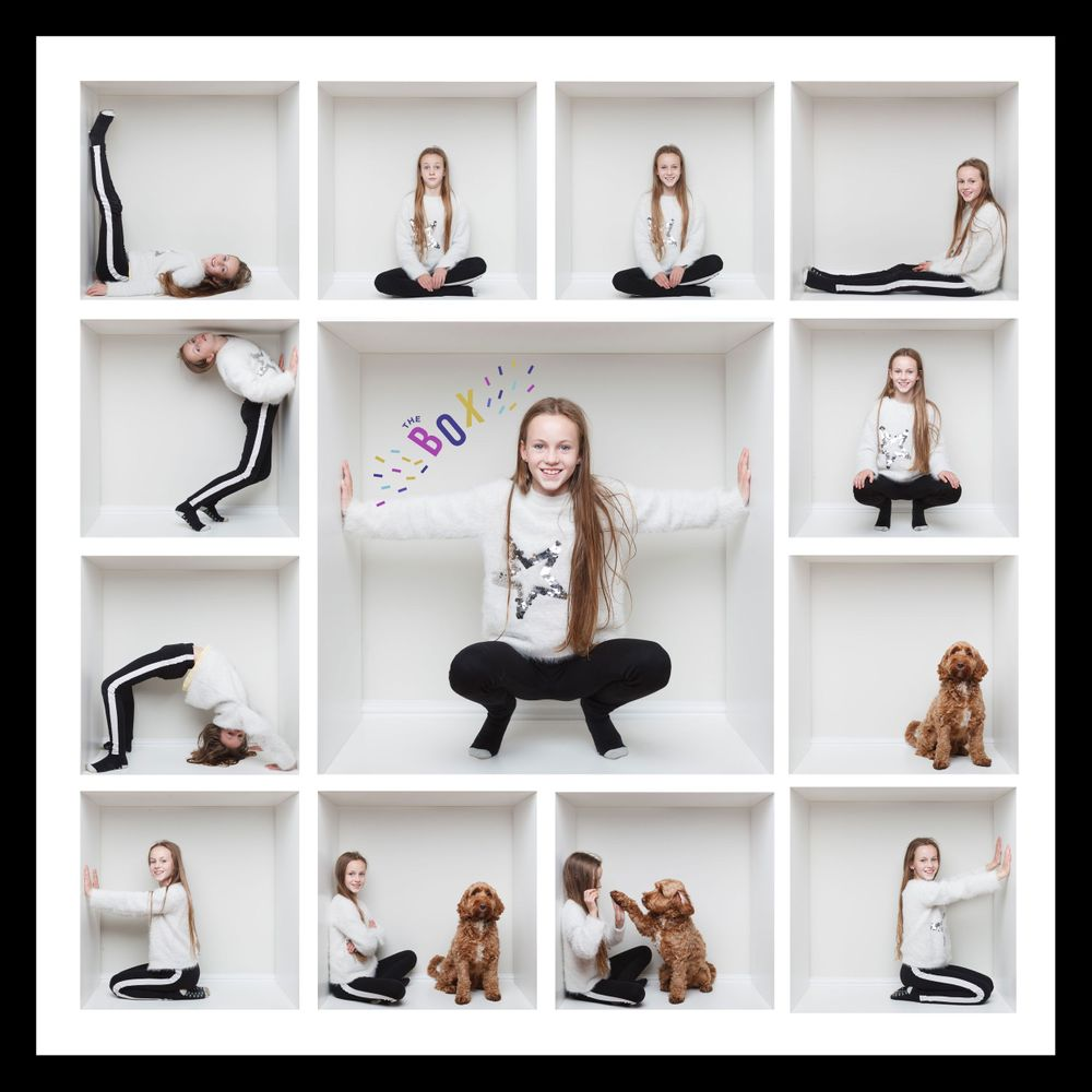 The Box - modern children and pet portraits in Berkshire