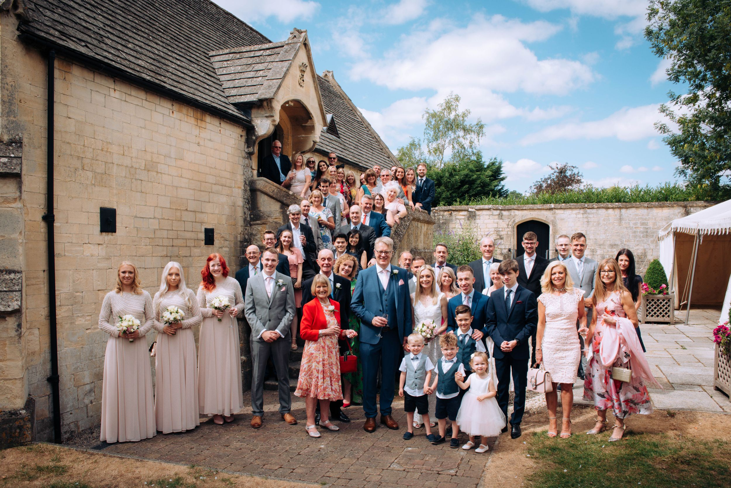Zara Davis Wedding Photography near Stroud, Gloucestershire in the Cotswolds Ellenborough Park group photo