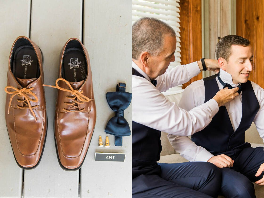 groom details and getting ready shots on st simons island, ga