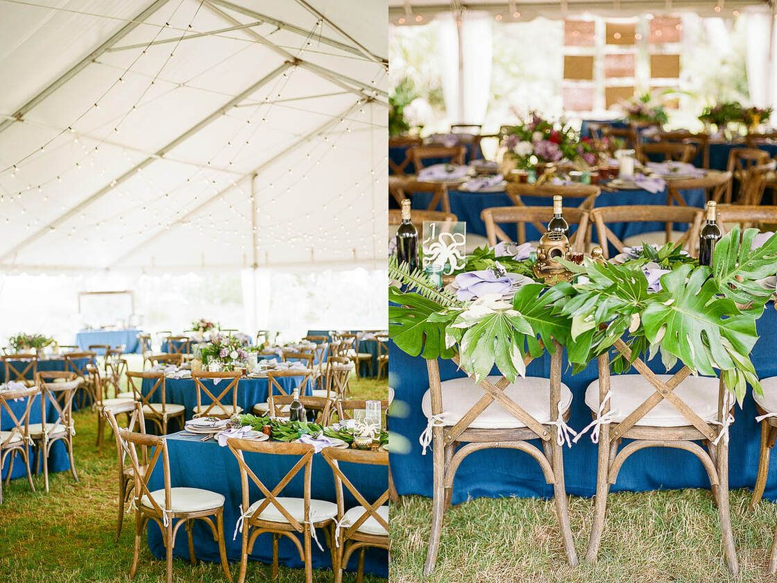 wedding reception seating details and bride and groom chairs with boho vibe