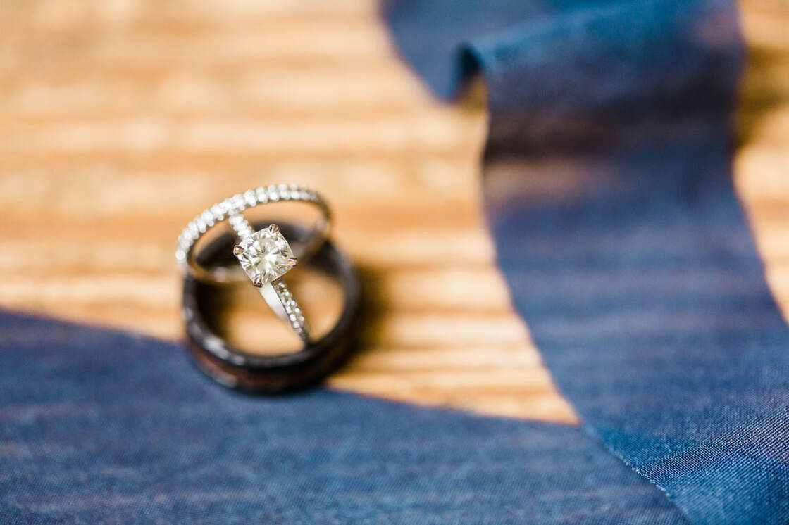 engagement ring details from first look in bethesda academy's whitefield chapel in savannah, ga