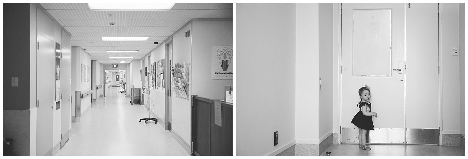 black and white photographs in a hospital during a Fesh48 Session by Stacey Lake Photography