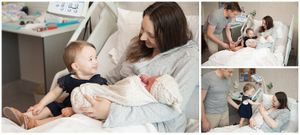 capturing special moments with new families welcoming a newborn at their fresh 48 session with Stacey Lake Photography