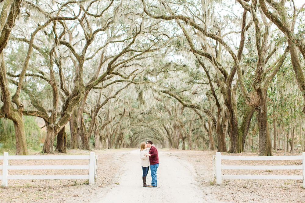 engagement session at wormsloe historic park in savannah, ga