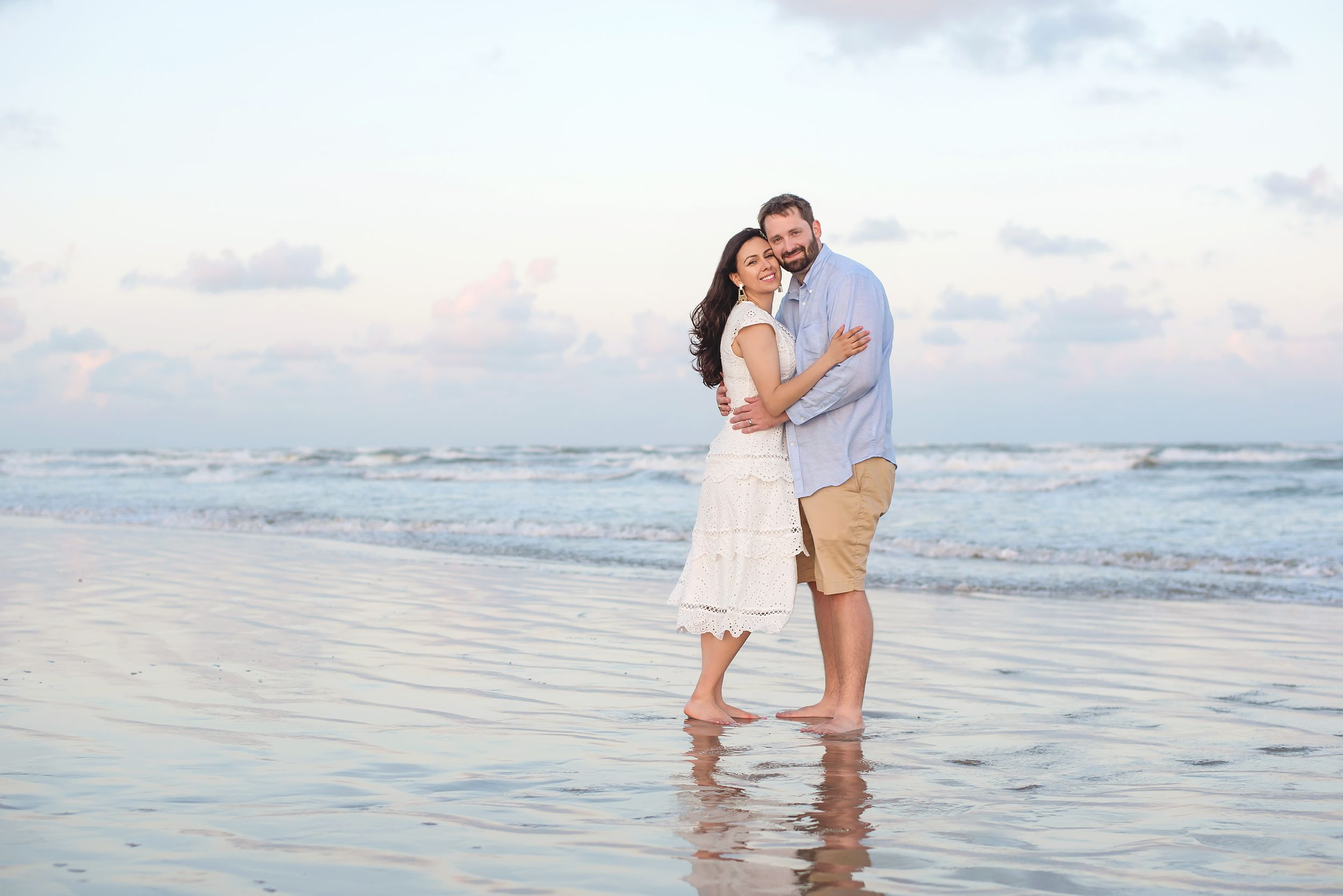 Couple beach photo in Port Aransas, TX