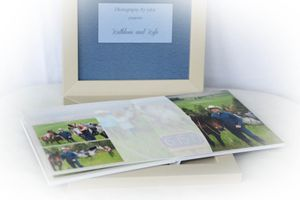 engagement guest book of Moscow Idaho couple on horse at the top of a mountain photographer luba wold