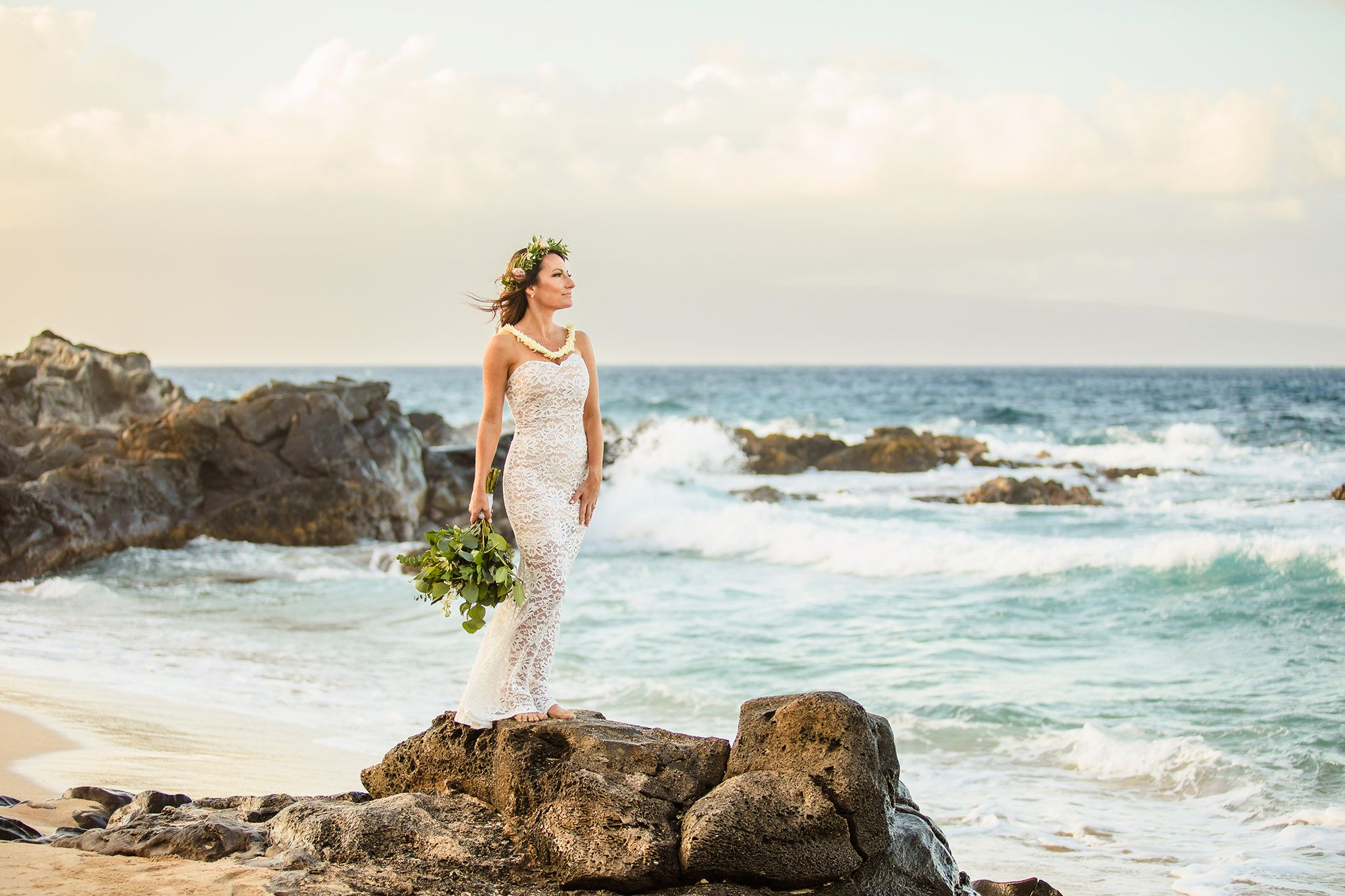 bridal portraits ironwood beach maui