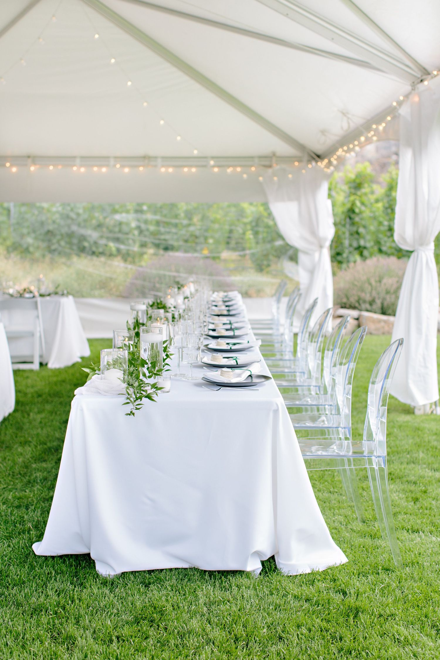 head table outdoor tented