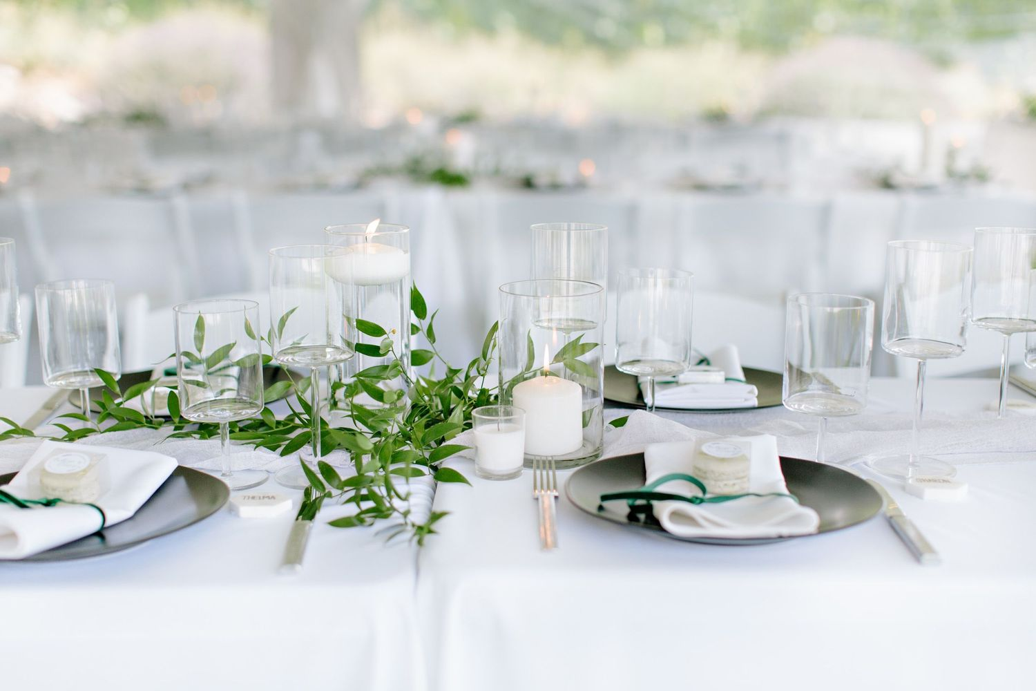 table scape vineyard wedding