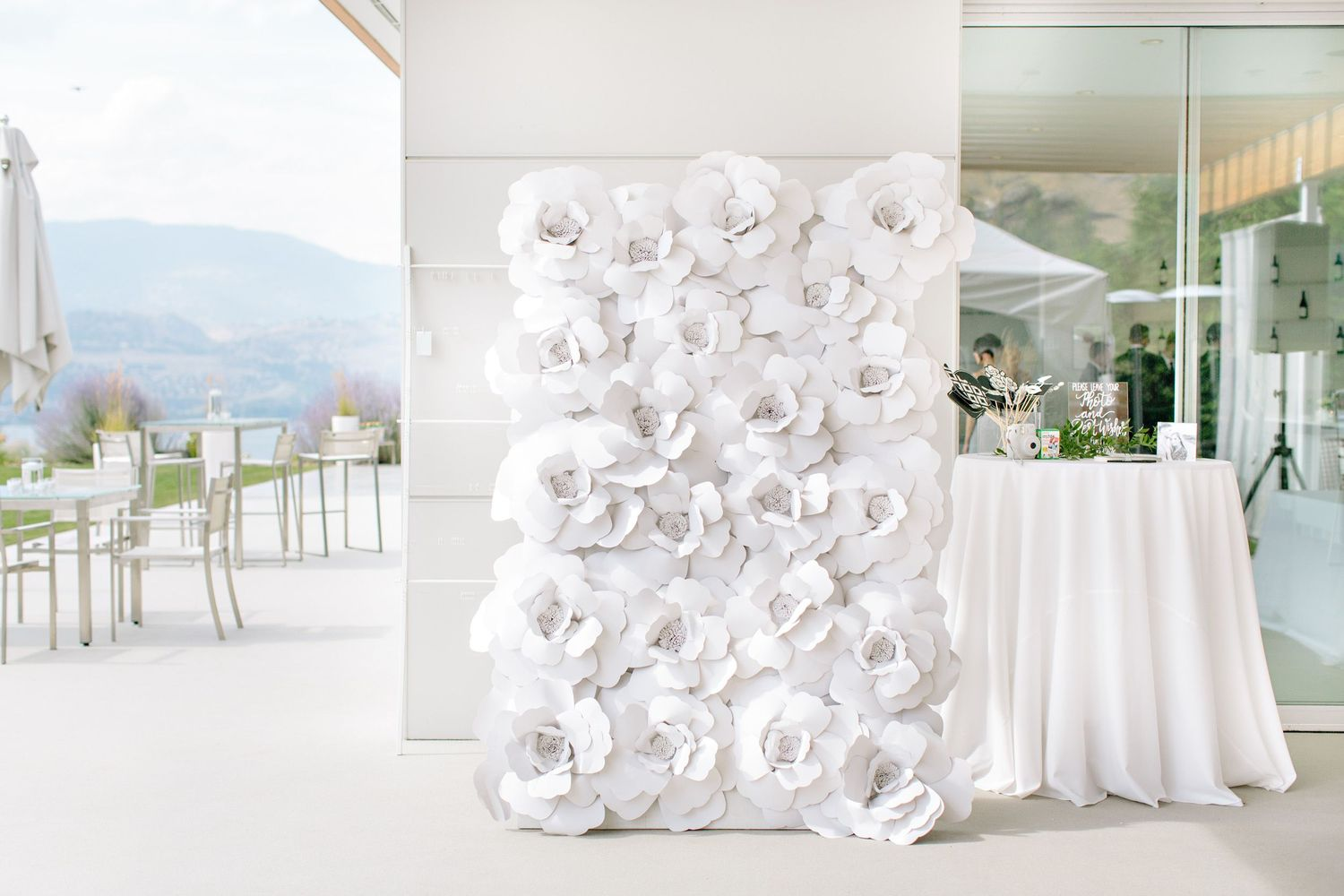 painted rock winery reception decor wall