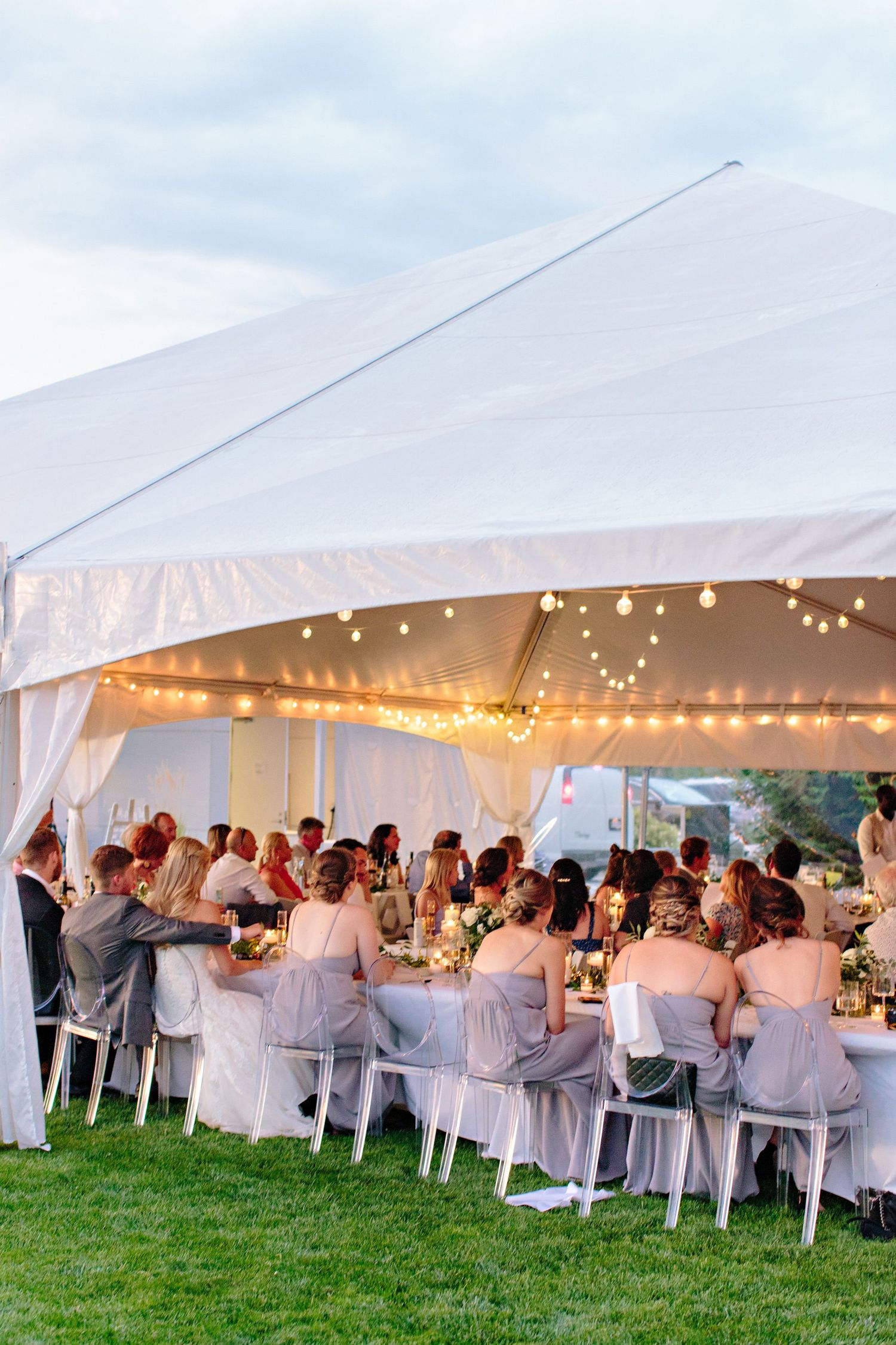 painted rock winery tented wedding reception