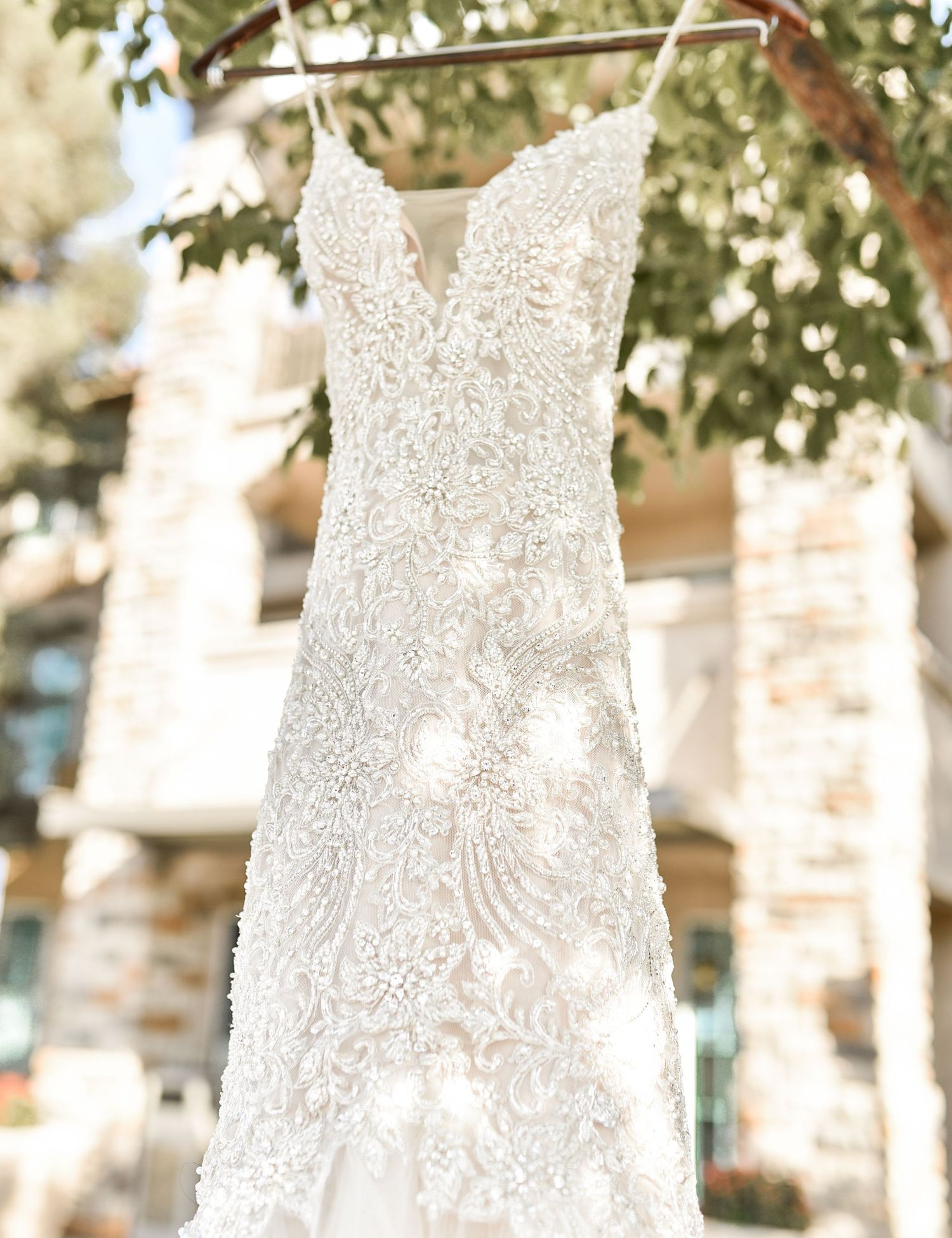 Wedding dress from Annabelle's Bridal in Visalia California photo by Miranda Munoz Photography