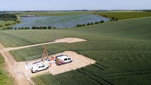 Geotechnical Drilling and Inspection Countryside Aerial