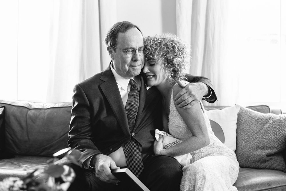 Oklahoma wedding photographer photographers Aaron Snow New Orleans Wedding destination bride and dad crying emotion