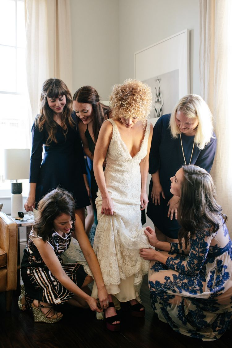 Oklahoma wedding photographer photographers Aaron Snow New Orleans Wedding destination bride getting dressed sisters