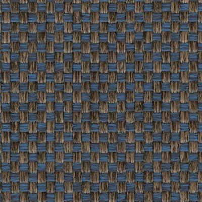 Brown & Blue Woven Fabric Colour Swatch