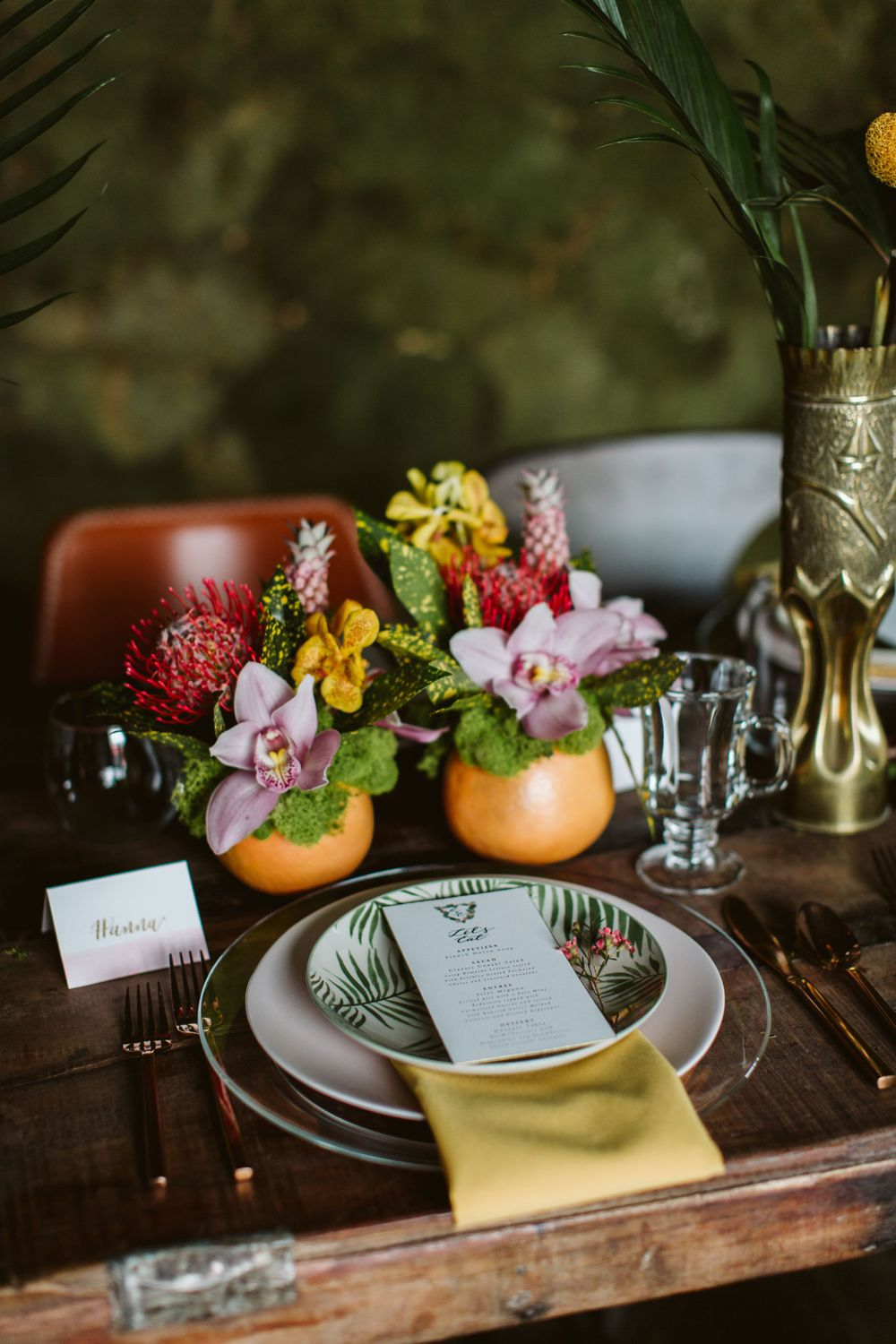Reception details at Almagre Venue + Bar in Colorado Springs, CO
