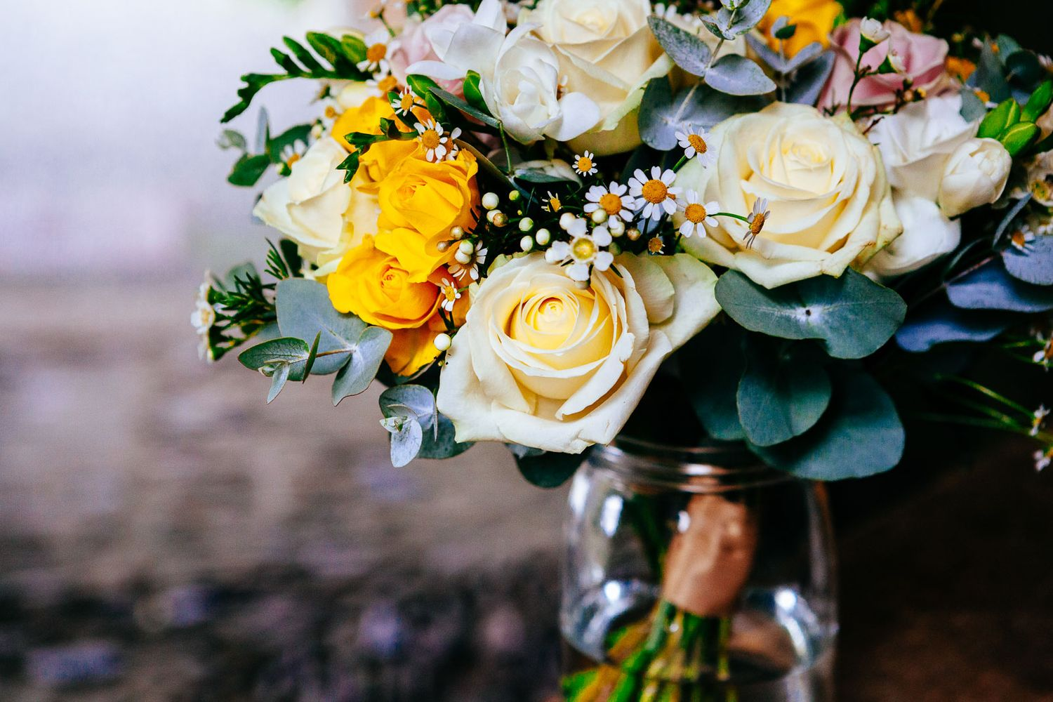 bridal flowers creative wedding photography by Tuscany photographer Elizabeth Armitage