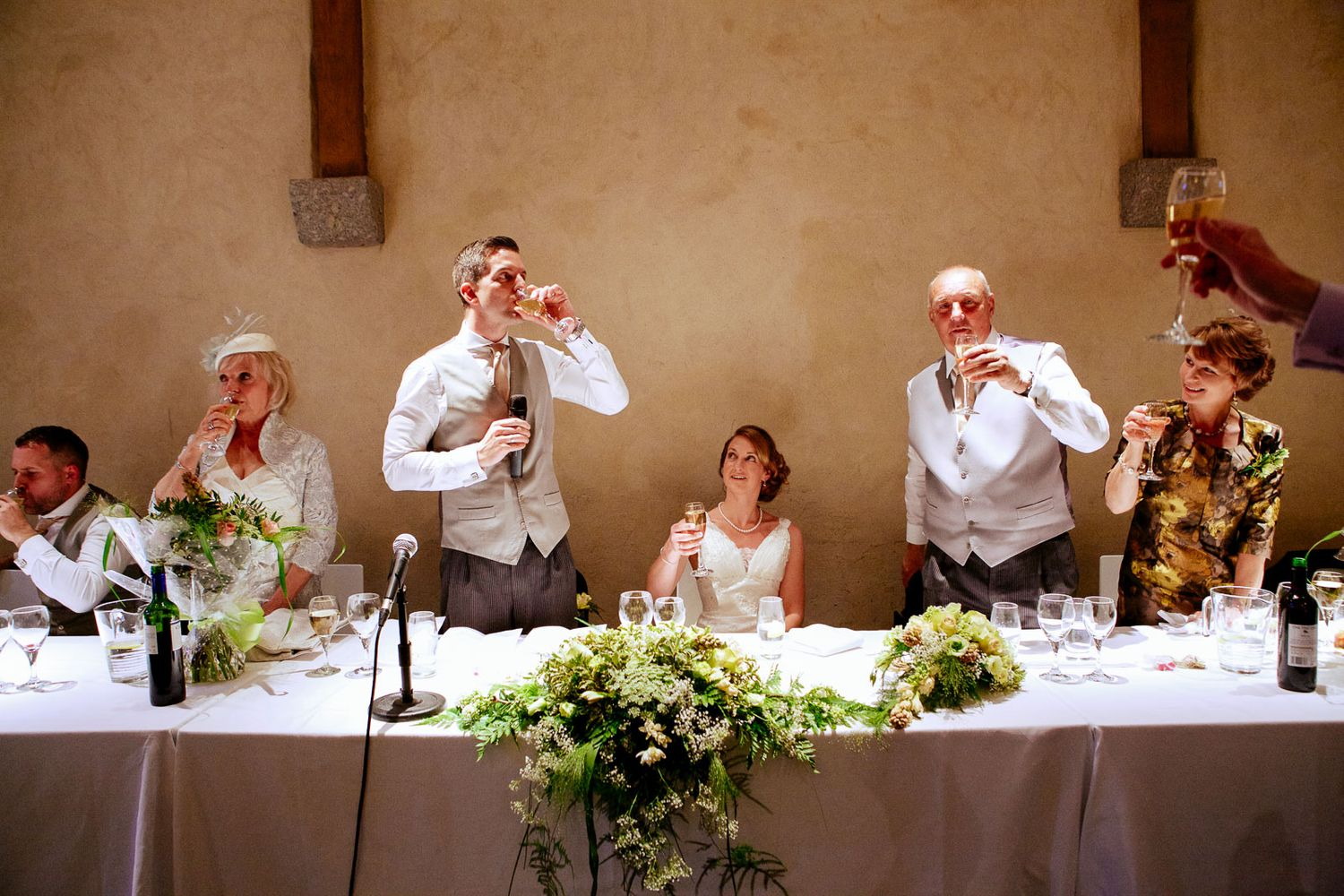wedding speeches at Great barn Devon
