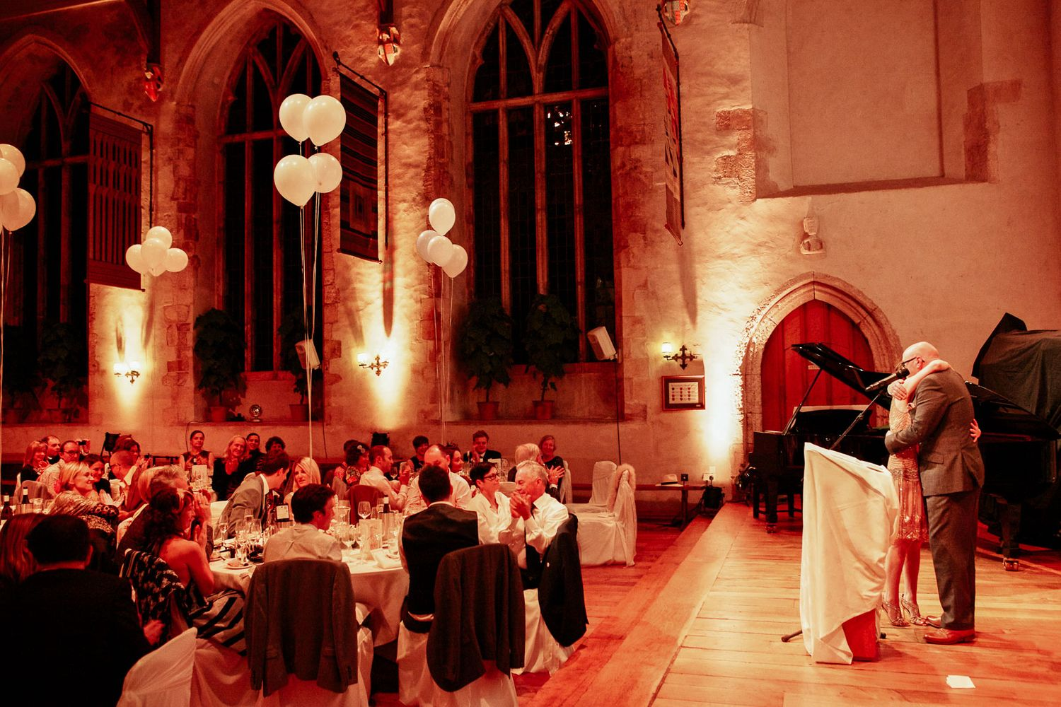 speeches at wedding at Dartington Hall near Totnes by destination wedding photographer Elizabeth Armitage