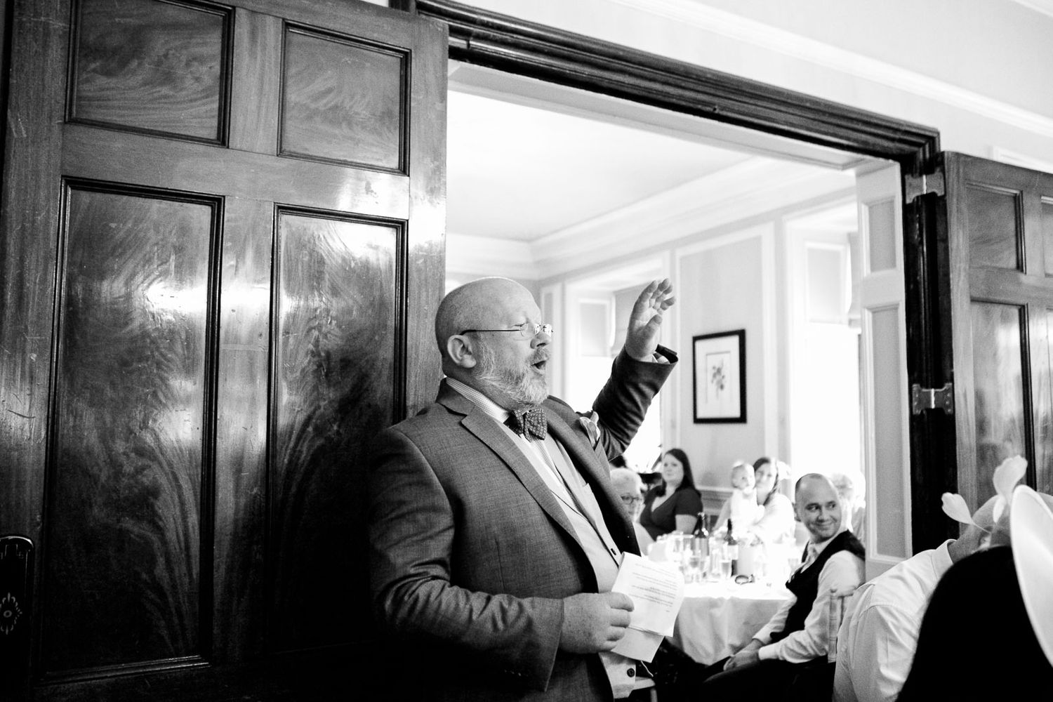 speeches at Langdon Court wedding