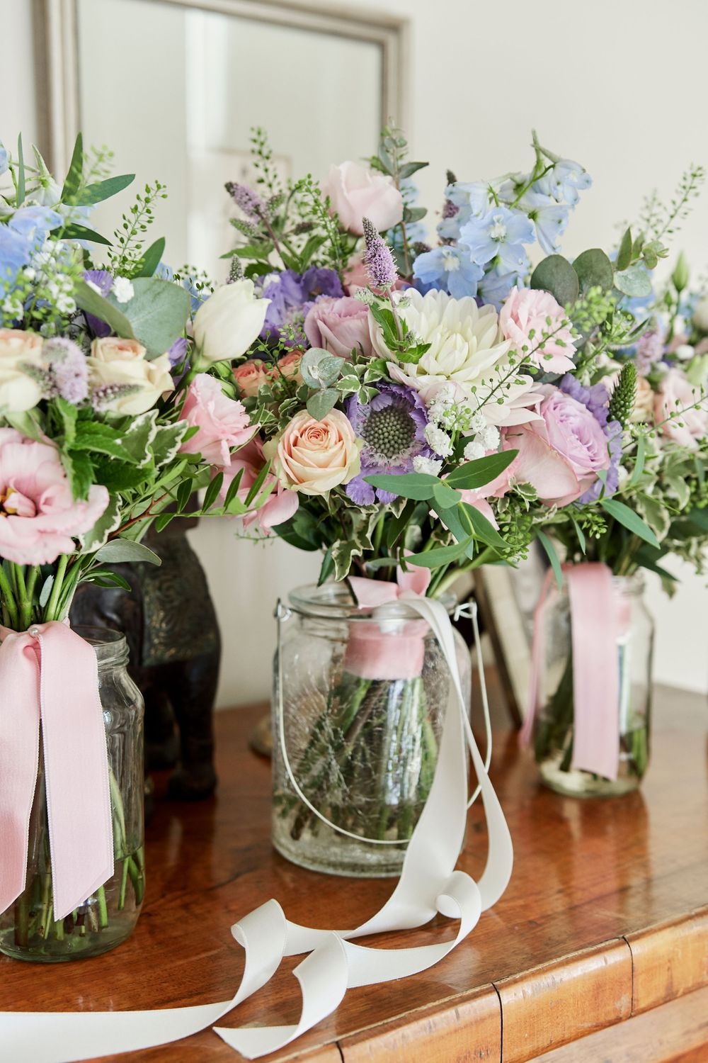 bridal bouquet at The old rectory, Norfolk. By Norfolk Wedding photographer Faye Amare