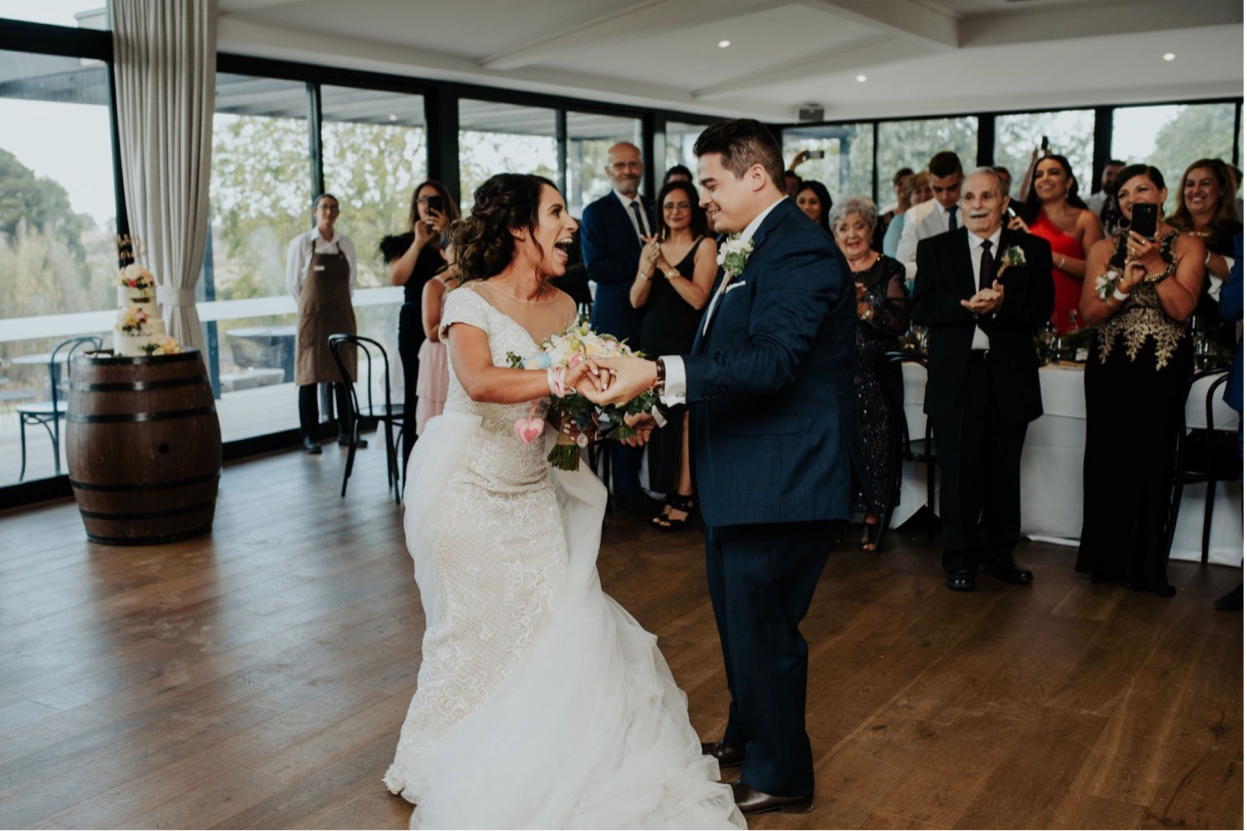 Natural candid wedding photography Lancemore Macedon Ranges reception