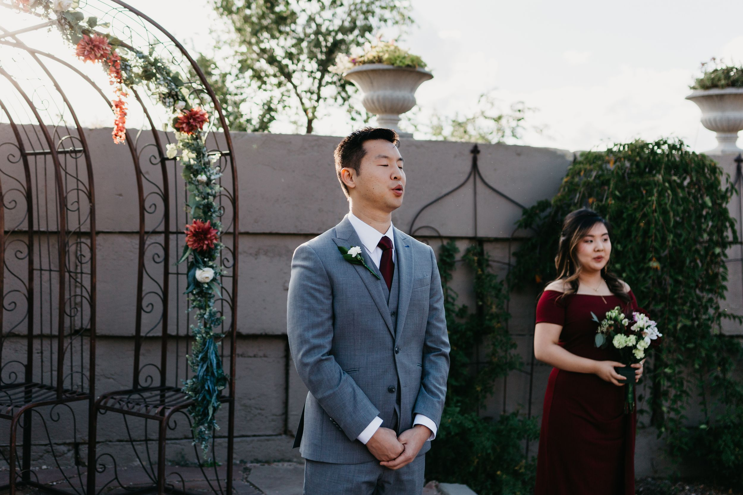 Groom Photography, Groom Shot Ideas, Colorado Springs Wedding Photographer, Hillside Gardens Colorado Springs,