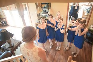 Bridesmaids surprised
