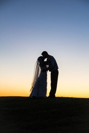 Silhouette of couple