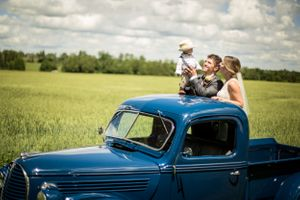 Retro Farm Wedding Photography