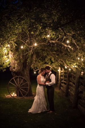 Twilight wedding photo