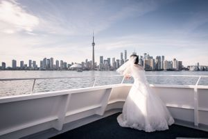 Bride at the Toronto Harbour
