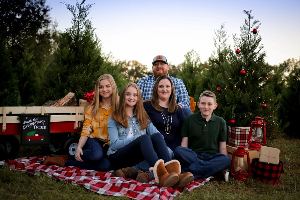 jacksonville family christmas colorful tree farm