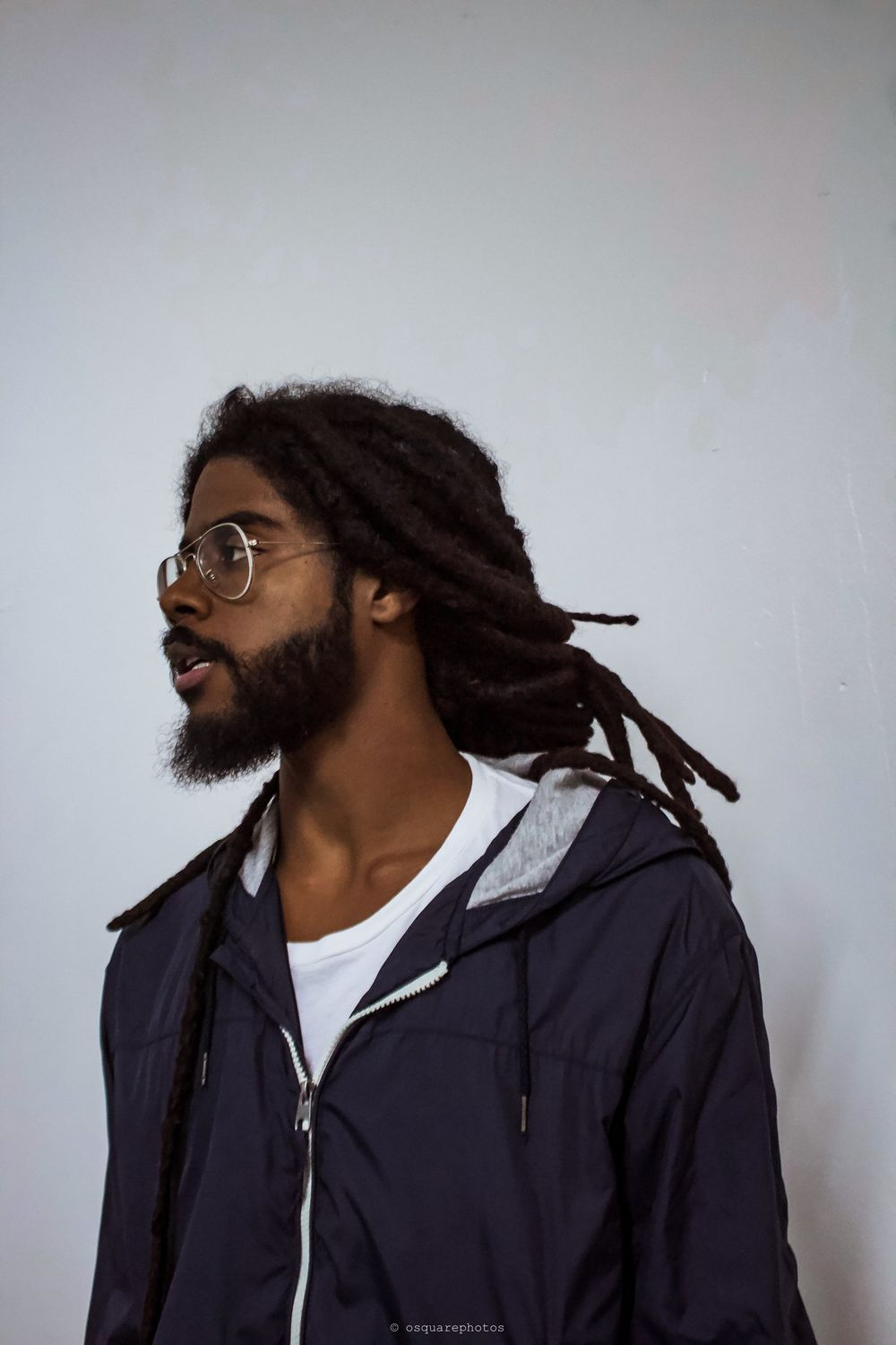 guy with dread poses for picture
