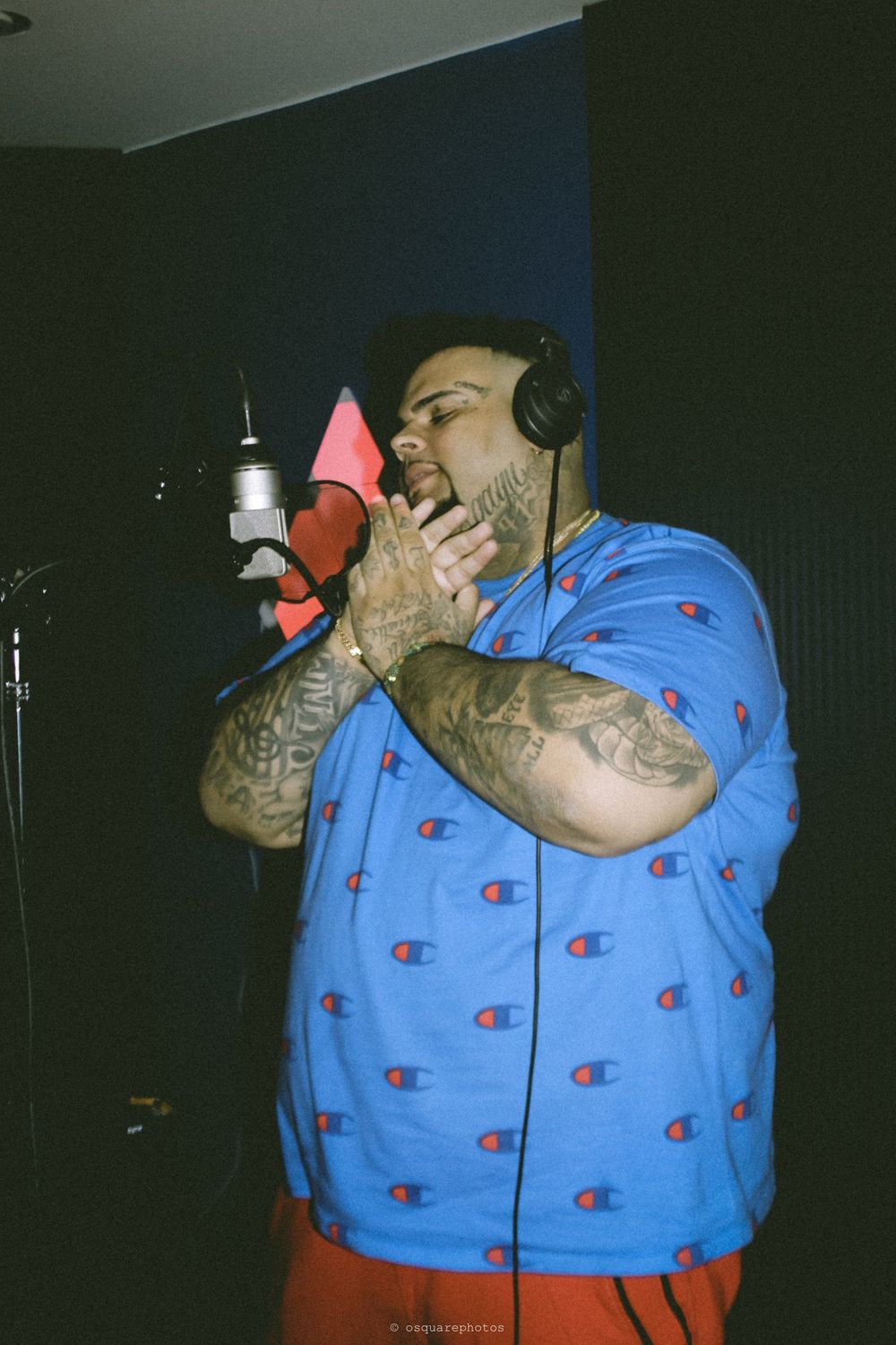 rapper in the booth