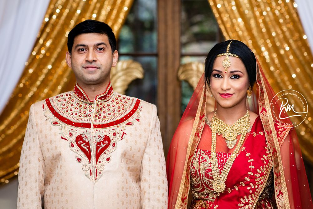 Indian Groom worn in a color complimentary to the bride – gold or white