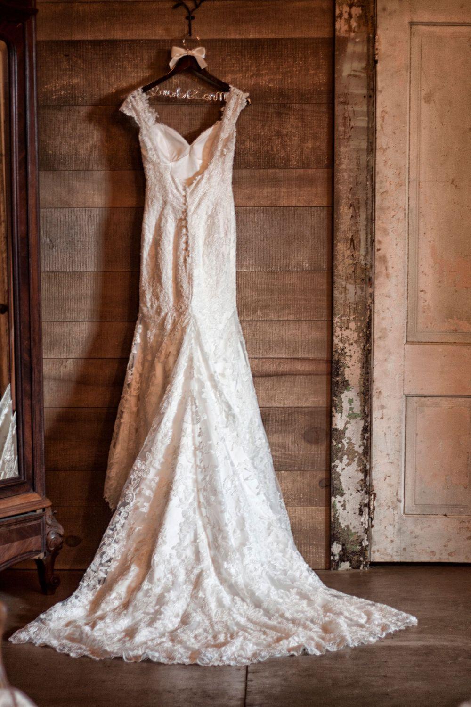 Bride's Dress Before Ceremony