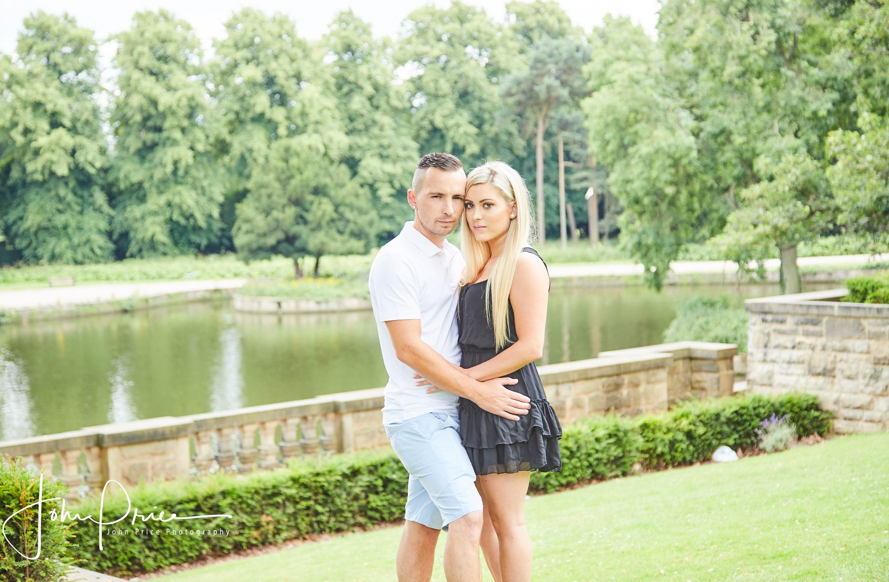 Highfields boating lake engaged couple