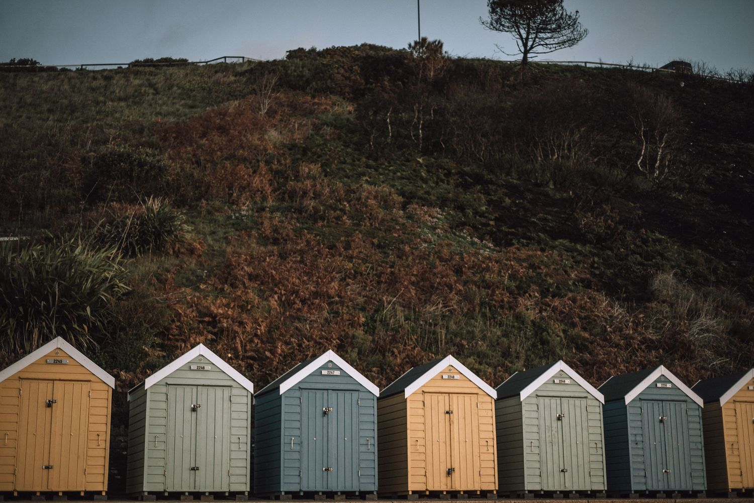 Beach huts in UK