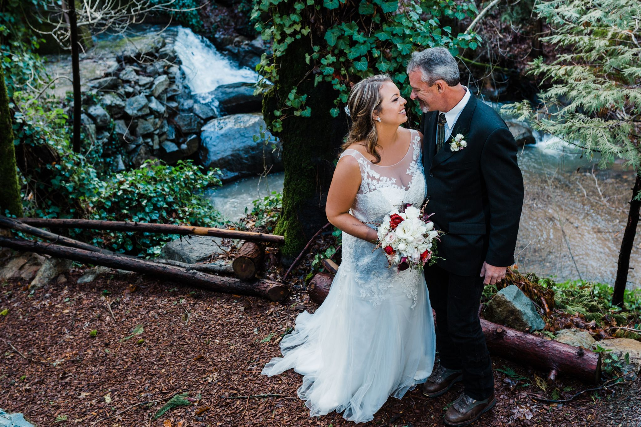 wedding couple in nevada city, nevada county.