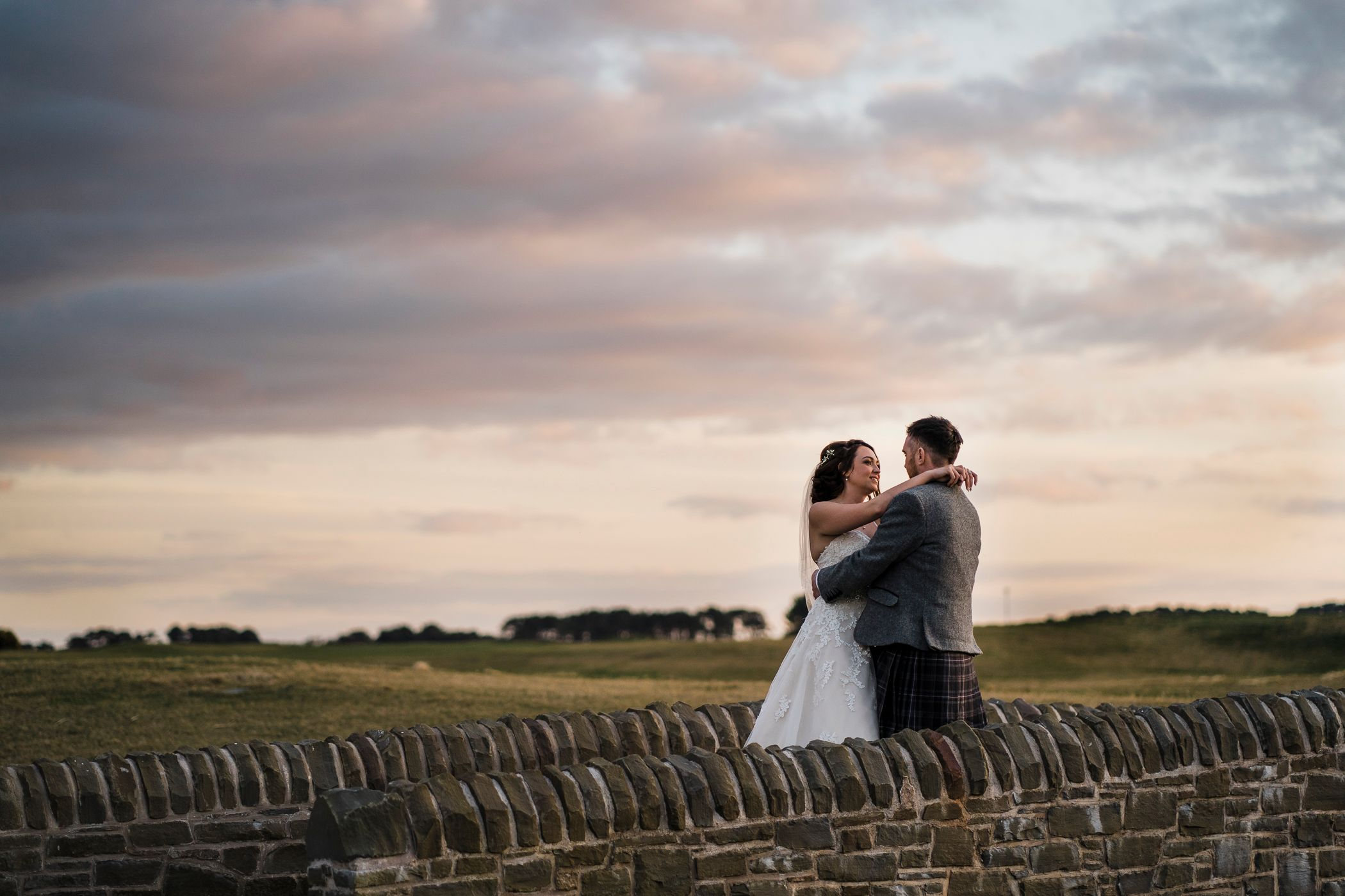 Carnoustie Golf hotel wedding photography sunset Angus Panbride Country Church