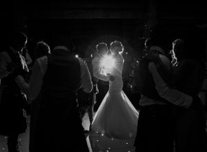 Candid Black and white wedding first dance Piperdam Photography Angus Scotland