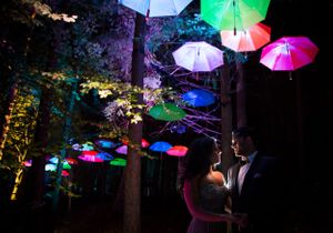 Enchanted forest engagement photo shoot Perthshire