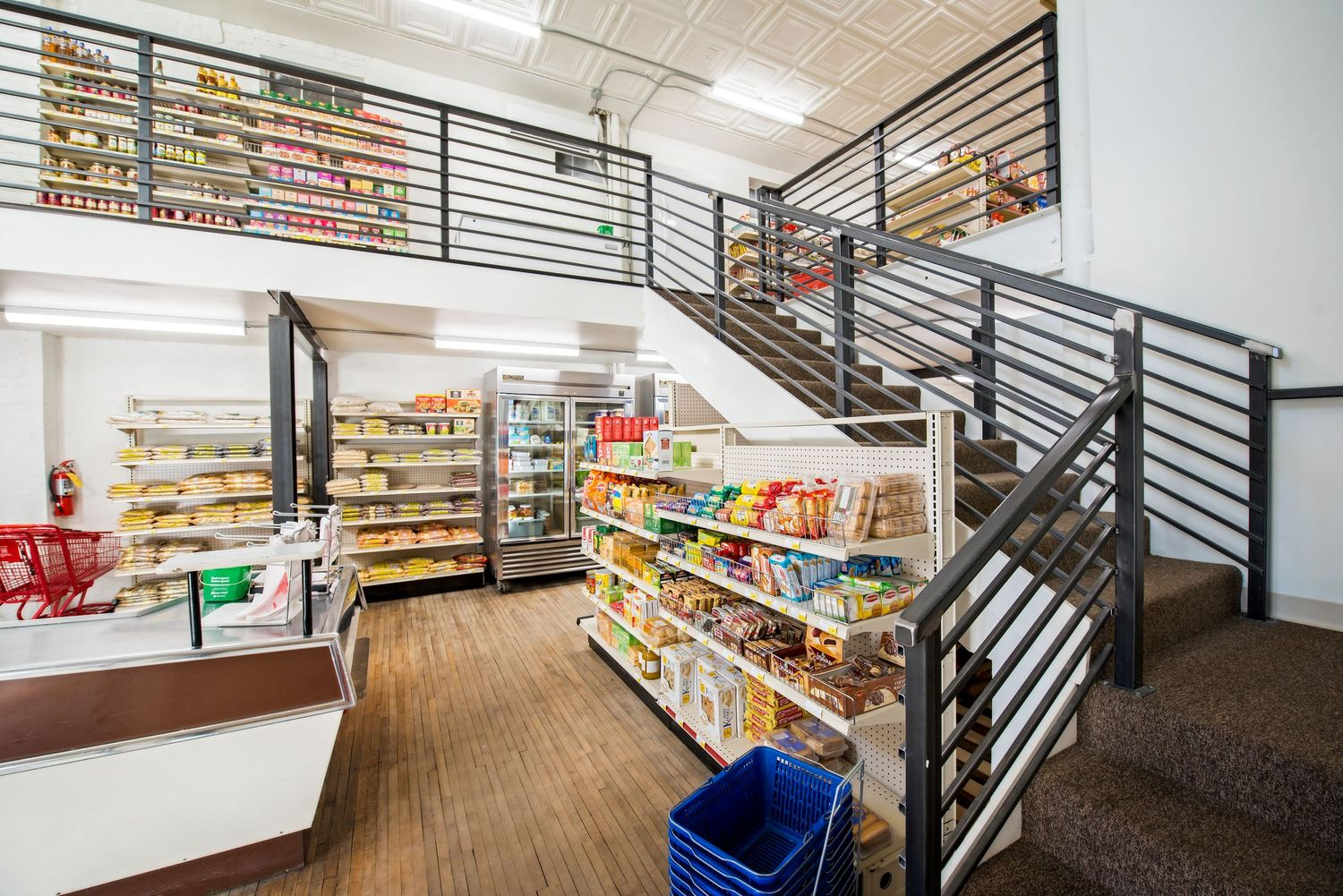 Architectural interior small grocery store Flavor Indian in Brookings, SD