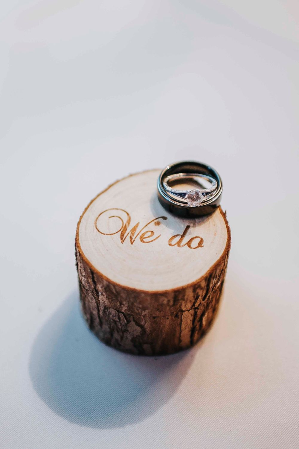 rebecca skidgel photography placerville winter wedding detail photos rings custom ring box