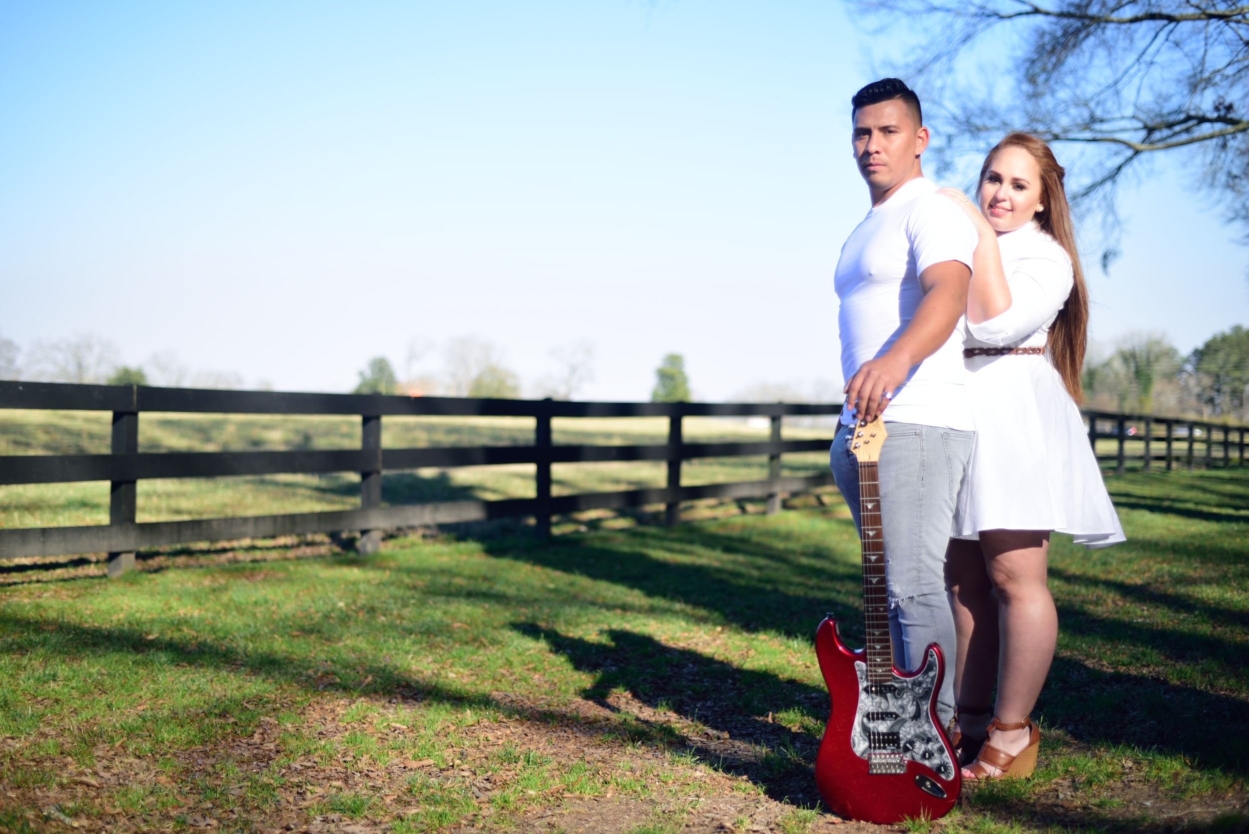 Engagement Shoot Guitar